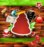 Christmas Vintage scrapbook composition Stock Photography