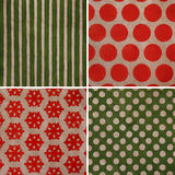 Christmas vintage set. Christmas pattern set. Vintage textures Royalty Free Stock Photography