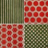 Christmas vintage set. Christmas pattern set. Vintage textures royalty free stock photography