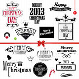 Christmas vintage set Stock Photography