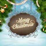 Christmas vintage Signboard. EPS 10 Stock Photo