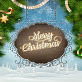 Christmas vintage Signboard. EPS 10 Stock Images