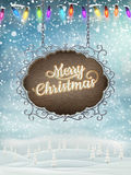 Christmas vintage Signboard. EPS 10 Royalty Free Stock Images