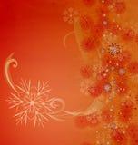 Christmas vintage snowflake card Stock Image