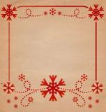 Christmas vintage snowflake card Stock Photos