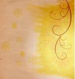 Christmas vintage snowflake card Stock Photography