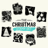 Christmas Vintage Stamp Set Royalty Free Stock Image
