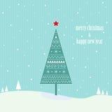 Christmas vintage tree Royalty Free Stock Photo