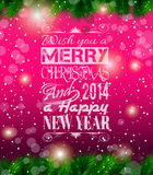 2014 Christmas Vintage typograph design Royalty Free Stock Photography