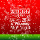 2014 Christmas Vintage typograph design. With clean background Royalty Free Stock Photos