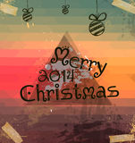 2014 Christmas Vintage typograph design. With clean background Royalty Free Stock Photo