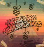 2014 Christmas Vintage typograph design. With clean background Stock Photo