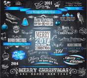 2014 Christmas Vintage typograph design elements: Royalty Free Stock Photo