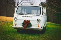 Christmas Vintage Van Royalty Free Stock Photos