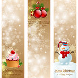Christmas vintage vertical banners. Royalty Free Stock Images