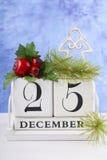 Christmas Vintage Wood Calendar Royalty Free Stock Photography