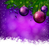 Christmas violet background Stock Photography