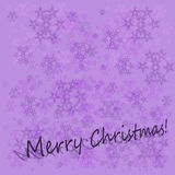 Christmas violet background with snowflakes and text Royalty Free Stock Photography