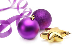 Free Christmas Violet Balls Stock Photos - 17271593