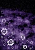 Christmas violet frame Stock Image