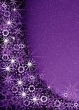 Christmas violet magic frame Stock Images