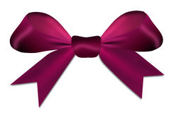 Christmas violet red bow isolated Royalty Free Stock Photos