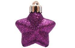 Christmas violet star Royalty Free Stock Photos