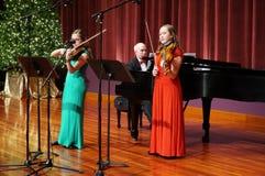 Christmas Violin Music in Kensington Maryland Royalty Free Stock Photos