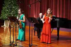 Christmas Violin Music Stock Photography