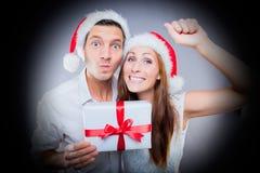 Christmas visit knocking door stock photos