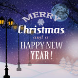 Christmas vitage poster Royalty Free Stock Images