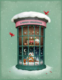 Christmas Vitrina royalty free illustration