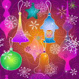 Christmas vivid pattern Royalty Free Stock Images
