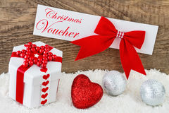 Christmas - Voucher Stock Image