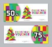 Christmas Voucher, Sale banner template, Horizontal christmas posters, cards, headers. Website, colorful background, vector illustration EPS20 vector illustration