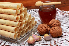 Christmas wafers. Is a taditional food Stock Images