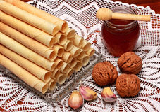 Christmas wafers. Is a taditional food Stock Image