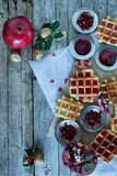 Christmas Waffle Stock Image