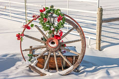 Free Christmas Wagon Wheel Royalty Free Stock Photos - 49903198