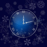 Christmas wall clock background Stock Image