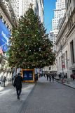 Christmas on Wall St royalty free stock image
