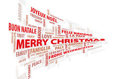 Christmas wall of words royalty free stock photos