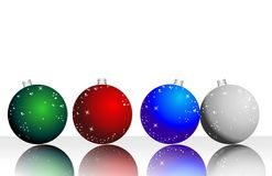 Christmas wallpaper. Illustration with Christmas decorations in different colors Stock Image