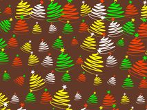 Christmas wallpaper. Decorative seasonal Christmas tree wallpaper background design Royalty Free Stock Images