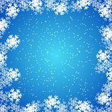 Christmas wallpaper, background with snowflakes Royalty Free Stock Photo
