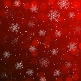 Christmas wallpaper, background with snowflakes Stock Photo