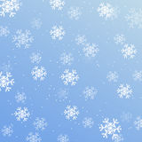 Christmas wallpaper, background with snowflakes Stock Images