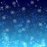 Christmas wallpaper, background with snowflakes Royalty Free Stock Image