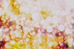Christmas wallpaper decorations concept.holiday festival backdrop:sparkle circle lit celebrations display. Stock Photos