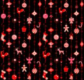 Christmas wallpaper with funny red pattern Stock Photo